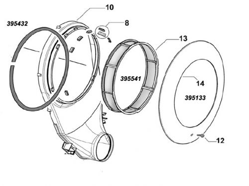 395560P Drum Bearing Assembly